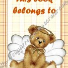 "Dear Diary Angel Bear 2 Book 4"" X 6"" Size ~ This Book Belongs To"