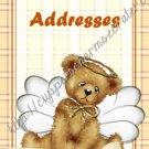 "Address Book 4"" X 6"" Size ~  Angel Bear Theme"