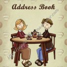 "Address Book 5"" X 7"" Size ~  Coffee Friends Theme"