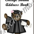 "Address Book 5"" X 7"" Size ~ ~  College Bound Female Theme"