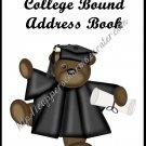 "Address Book 5"" X 7"" Size ~ ~  College Bound Male Theme"