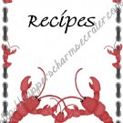 "Recipe Book 5"" X 7"" Size ~  Crawfish Theme"