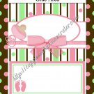 Ladybug Baby Shower Collection Brown Border Candy Bar Wrapper