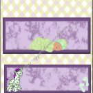 Purple & Yellow Griaffe Caucasian Sleeping Baby Candy Bar Wrapper