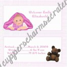 Baby Girl Baby Blanket Announcement Candy Bar Wrapper