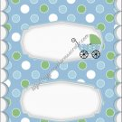 Baby Buggy White Border Candy Bar Wrapper