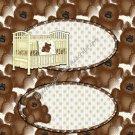 Teddy & Crib Candy Bar Wrapper