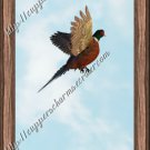 Father's Day MINI Candy Bar Wrapper ~ Pheasant  In Flight