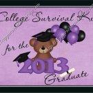 Graduation Gallon Can Set Purple High School or College Survival Kit (19)