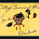 Graduation Gallon Can Set Yellow High School or College Survival Kit (19)