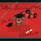 Graduation Gallon Can Set Red High School or College Survival Kit (19)
