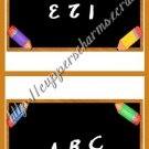 School Days Treat Bag Toppers~ Chaulkboard ~ Personalize It