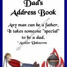 """Address Book 4"""" X 6"""" Size ~  Dad's BBQ Theme"""