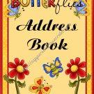 "Address Book 4"" X 6"" Size ~  Flower Garden Theme"