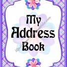 "Address Book 4"" X 6"" Size ~  My Purple Address Book"