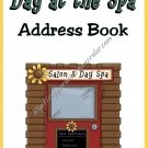"Address Book 5"" X 7"" Size ~  Dog Pamper Me Address Book"
