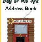 "Address Book 4"" X 6"" Size ~  Dog Pamper Me Address Book"