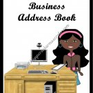 "Address Book 5"" X 7"" Size ~  Business  Address Book ~ African American Woman"