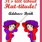 "Address Book 5"" X 7"" Size ~  Red Hatter Ladies Address Book"
