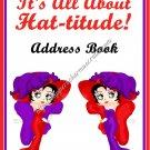 "Address Book 4"" X 6"" Size ~  Red Hatter Ladies Address Book"