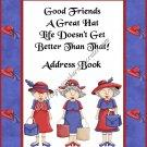 "Address Book 4"" X 6"" Size ~  Red Hatter Ladies Address Book 2"
