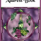 "Address Book 4"" X 6"" Size ~  Wine Grapes Address Book"