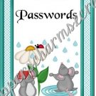 "Password Book 5"" X 7"" Size ~ Mouse In The Rain"