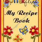 "Recipe Book 5"" X 7"" Size ~ Flower Garden"