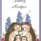 "Recipe Book 5"" X 7"" Size ~ Hedgehog Family"
