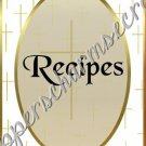 "Recipe Book 5"" X 7"" Size ~ My Cross"