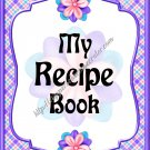 "Recipe Book 5"" X 7"" Size ~ Purple Flowered"