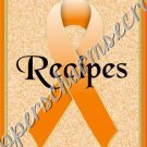 "Recipe Book 5"" X 7"" Size ~ Orange Awareness Book"