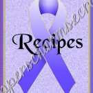 "Recipe Book 5"" X 7"" Size ~ Periwinkle Awareness Book"
