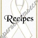 "Recipe Book 5"" X 7"" Size ~ White Awareness Book"