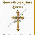 "Scriptures Book 5"" X 7"" Size ~ My Favorite Scriptures Cross"