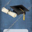 School Days ~ Graduation ~  MINI Candy Bar Wrapper ~ Solid Dark Denim