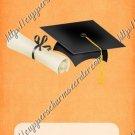 School Days ~ Graduation ~  MINI Candy Bar Wrapper ~ Solid Light Orange