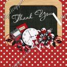 School Days ~ Teacher Thank You School House ~  MINI Candy Bar Wrapper ~ Polka Dot Red
