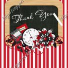 School Days ~ Teacher Thank You School Time ~  MINI Candy Bar Wrapper ~ Stripes Red