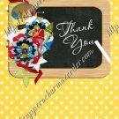 School Days ~ Teacher Thank You  ~  MINI Candy Bar Wrapper ~ Polka Dot Yellow