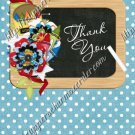 School Days ~ Teacher Thank You  ~  MINI Candy Bar Wrapper ~ Polka Dot Blue