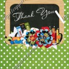 School Days ~ Teacher Thank You  ~  MINI Candy Bar Wrapper ~ Polka Dot Green