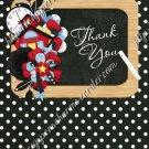 School Days ~ Teacher Thank You  ~  MINI Candy Bar Wrapper ~ Polka Dot Black