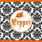 Salt & Pepper Wrappers ~ Graduation Orange Black