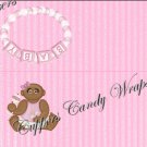 Treat Bag Toppers~ Af Am Baby Girl ~ Personalize It (Optional)