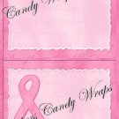 Treat Bag Toppers~ Breast Cancer Pink #1 ~ Personalize It (Optional)