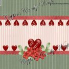 Treat Bag Toppers~ Be Mine Valentine Green Floral