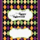 Argyle Halloween Candy Bar Wrapper Purple Border