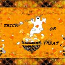 Candy Corn Ghost Halloween Gallon Can Set
