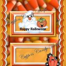 Candy Corn Ghost & Friends Standard Size Candy Bar Wrapper